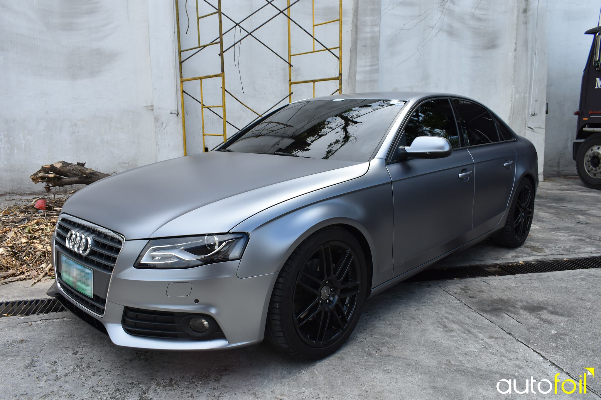 Audi A4 Wrapped In Matte Chrome Silver Autofoil Car Wrapping