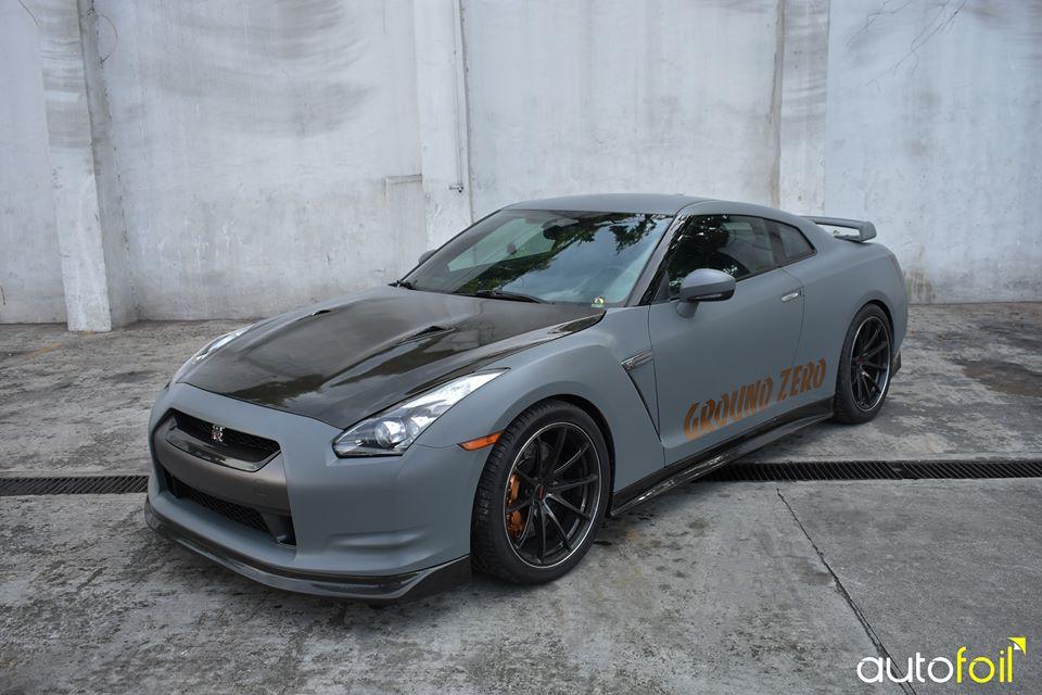 Kaiju Nissan Gtr35 Wrapped In Matte Graphite Gray